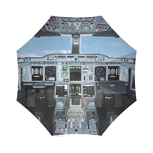 Liebhaber/Frau/Mann Geschenke Presents Flugzeug Cockpit Flugzeug Cockpit 100% Stoff und Aluminium faltbar Hochwertige Regenschirm