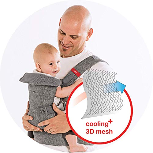 YOU+ME 4-in-1 Ergonomic Baby Carrier, 8 - 32 lbs (Grey Mesh)