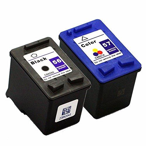 Pack Cartuchos Tinta Compatible para HP 56 XL / 57 XL/Negro y Tricolor 20/18ml T99 T100
