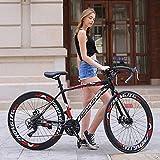 CNSTZX Bicicleta de montaña Plegable con Ruedas de 26 Pulgadas, suspensión Doble para Hombres y Mujeres, Marco de Acero de Alto Carbono, Freno de Disco de Acero
