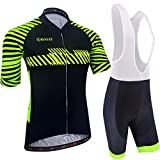 BXIO Maillot Ciclismo para Hombre, Ropa de Ciclismo Transpirable y de Secado Rápido con Culotte para Bicicleta de...
