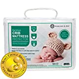 Crib Mattress Protector Pad (Mom's Choice Award Winner) - by Margaux & May - Noiseless - Dryer Friendly - Deluxe Bamboo Rayon - Fitted, Quilted - Stain Protection Baby, Infant & Toddler Cover