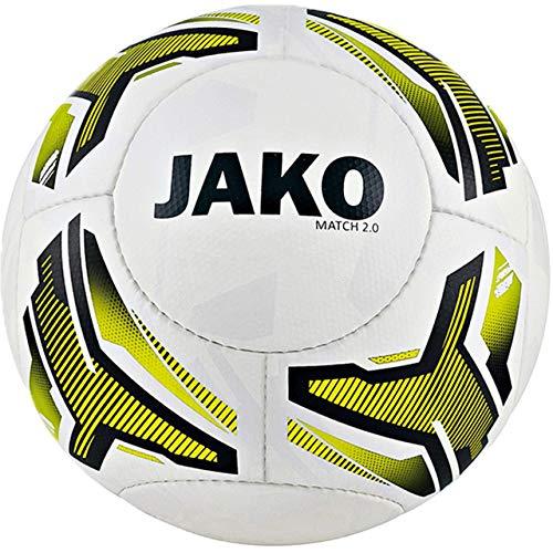 JAKO Jugendball Match 2.0, Größe:3, Farbe:weiß/neongelb/schwarz-290g