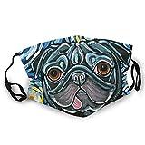 Reutilizable lavable del polvo lindo del perro con el filtro activado del carbón para el montar al aire libre de los