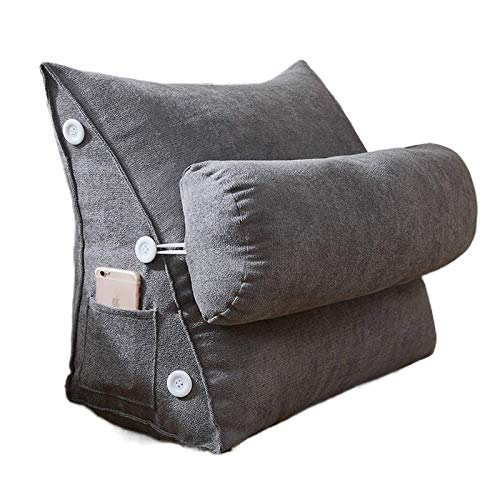 JONJUMP Bed Reading Pillow Large Big Sofa Bedside Bed Lumbar Support Cushion Backrest Back Rest Pain Relief Pillow