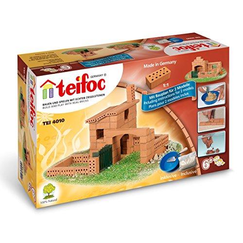 Teifoc TEI 4010 Steinbaukästen 4010-Haus, Multi Color, Haus klein