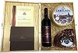 Geschenkbox mit Kraški Pršut Rotwein, Laib Trüffelkäse und originalem Karst Prosciutto