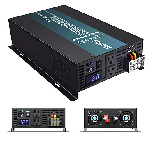 WZRELB RBP-500012S Pure Sine Wave 5000W 12V Power Inverter DC to AC Power - Solar, RV