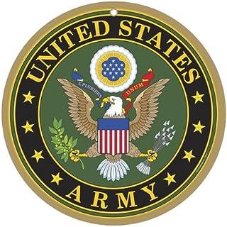 """SJT ENTERPRISES, INC. US Army Logo 10"""" Round Wood Plaque Sign (SJT15415)"""