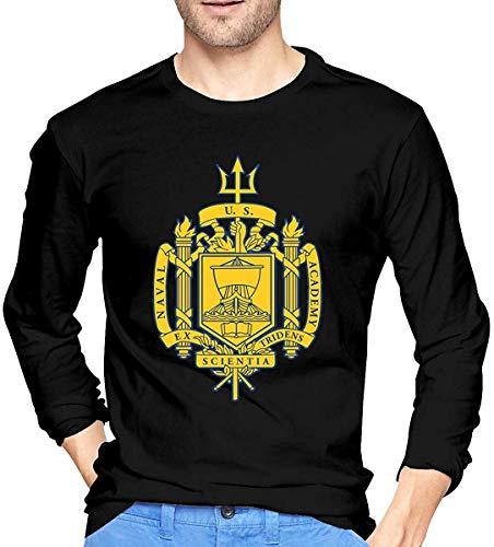 Chelsse Langärmliges T-Shirt Mens United States Naval Academy Men's Long Sleeve Cotton Jersey Shirt
