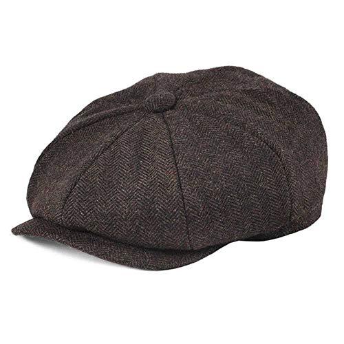 DWXWMZ - Kappen für Mädchen in Brown, Größe 58-59cm