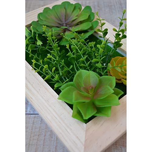 Jardín Vertical Decorativo con Plantas Artificiales Hogar y más - D