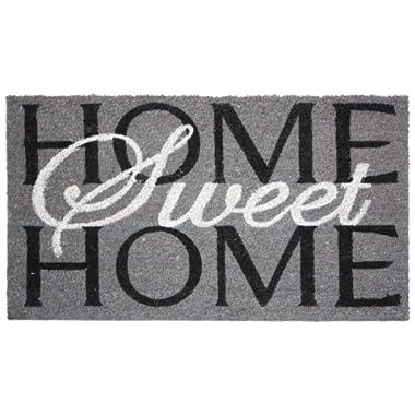 Natural Coir Coco Fiber Non-Slip Outdoor/Indoor Doormat, 24x36 , Heavy Duty Entry Way Shoes Scraper Patio Rug Dirt Debris Mud Trapper Waterproof-Home Sweet Home
