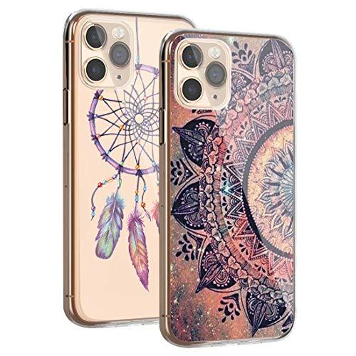 kinnter 2 Stück Silikonhülle Kompatibel mit iPhone 11 Pro Hülle 360 Grad Stoßfest Kratzfest Schutzhülle Ultra Dünn Soft Rückschale Handyhülle TPU Tasche Cover für iPhone 11 Pro