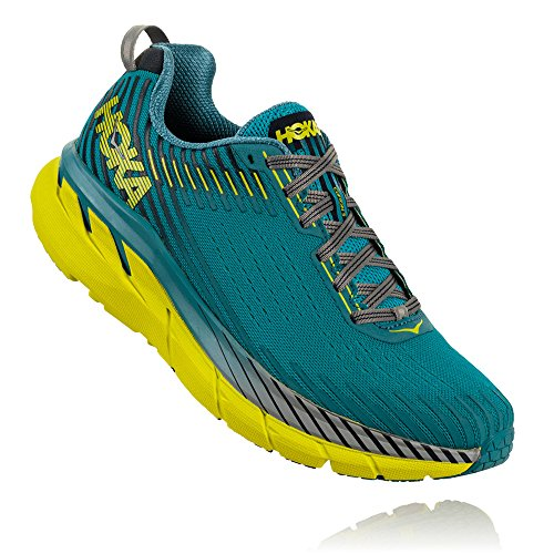 HOKA ONE ONE Men's Clifton 5 Running Shoe Carribean Sea/Storm Blue Size 12 D US