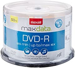 Maxell 638011 Superior Archival Life Metal Azo Dye Construction Write Once Format DVD-R 4.7 Gb Spindle 50 Disc Pack