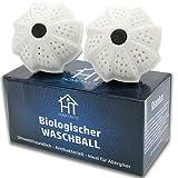 Bola de lavado biológica – Bola de lavado ecológica en un paquete de ventajas – Lavado sin detergente – Antibacteriano, sostenible & respetuoso con el medio ambiente – Ideal para alérgicos y niños