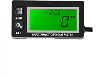 found-own RL-HM028 Multifunction Hour Meter Tachometer Voltmeter with Clock 2 & 4 Stroke for Small Engine Boat Outboard Mercury Motocross Motorcycle Lawn Mower Generator 028