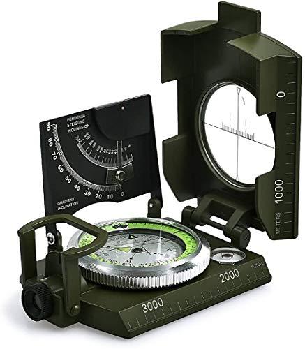 Soldado de un solo soldadoNavigación Multi-Functnavigación, medidor de nivel de escala Inclinómetro RangeFinder Impermeable a prueba de golpes, para Senderismo Otras actividades al aire libre (Verde)