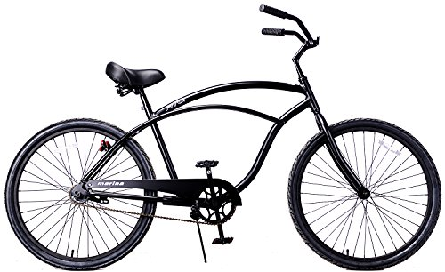 Fito Men's Marina Aluminum Alloy 1-Speed Beach Cruiser Bike, Red, 18' x 26'/One Size