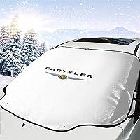 クライスラー?のロゴ 車のフロントカバー、車のフロントガラスの陰、厚い、防水、不凍液、夏/冬の熱保護、車の陰147*118cm