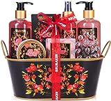 BRUBAKER Cosmetics Set de Baño y Ducha'Amor' con Fruta de la pasión - Set de regalo de 12 piezas en bañera vintage