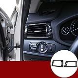 YIWANG cubierta de salida de aire acondicionado lateral de fibra de carbono estilo ABS, 2 piezas para X3 F25 2011-2017, X4 F26 2013-2017 lado izquierdo Drive Auto accesorios