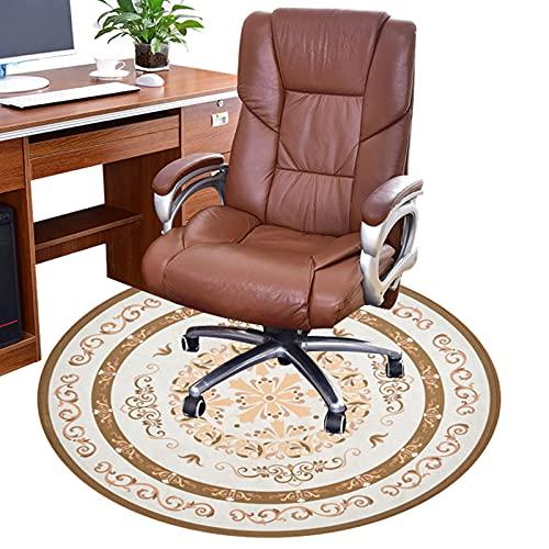 NZBBGS Bodenschutzmatte, Stuhl Bodenschutz, rutschfeste Stuhlmatte, Fußbodenmatten Für Wohnzimmer, Schlafzimmer, Tagungsraum, Eingangshalle, Arbeitszimmer(Size:140cm/55in,Color:B.)