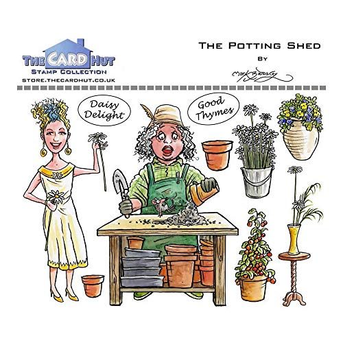 The Card Hut - Mark Bardsley Garden Sheds: The Potting Shed Stamps