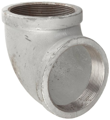 Anvil 8700124434, Malleable Iron Pipe Fitting, 90 Degree Elbow, 4