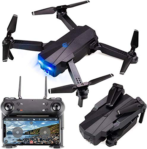 generi Drone con Telecamera ad Alta Definizione HD 1080P Live Video Ritorno Automatico a casa, WiFi FPV RC Quadcopter Fly Altituide Hold Flusso Ottico Lungo Raggio di Controllo