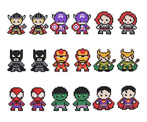 Superhéroe Pegatinas de Pintura de Diamante Juego de Pintura de Diamantes 5D de Vengadores 18PCS para Niño Niña