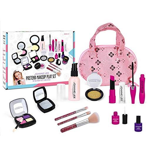 Wenhe Pretend - Kit de maquillaje de juguete seguro y no txico para nios, primer maquillaje, juego de juguetes para princesas pequeas, disfraz para nios