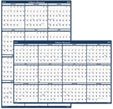 product image for HOD396 - Poster Style Reversible/Erasable Yearly Wall Calendar