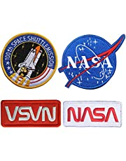 5 piezas NASA Iron On Patch/Sew On Badge for Astronaut Space Fancy Dress Costume Jacket, Parche táctico NASA 100th Space Shuttle Mission, Parche termoadhesivo para la ropa (5 piezas)