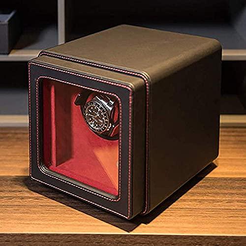 H-BEI Accesorios de Reloj Enrollador automático de Relojes Reloj Individual mecánico Caja de Cuero Genuino Motor silencioso Avanzado Pantalla vibratoria Soporte Pantalla, Cumpleaños Día