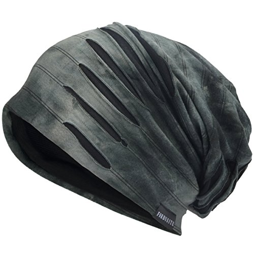 Hombre Jersey Slouch Gorro Verano Skullcap (A-Gris, Thin Cool)