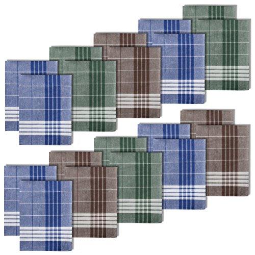 millionen-olly 20 Herren Taschentücher Stofftaschentücher Arabias 100% Baumwolle