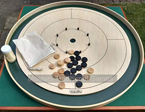 Tracey Tour Championship Crokinole Board (Masters Green Ditch and Hole with 26 disks)