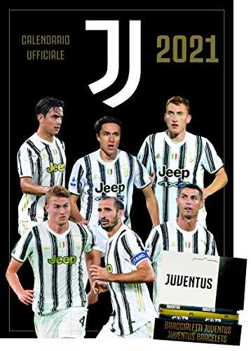 europublishing Calendario Juventus 2020 Producto Oficial 29 x 42 cm + Tris Pulseras de Silicona