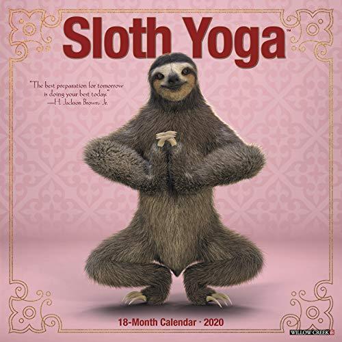 Sloth Yoga 2020 Wall Calendar