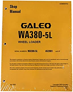 Komatsu WA380-5L Wheel Loader Workshop Repair Service Manual - Part Number # CEBM009702
