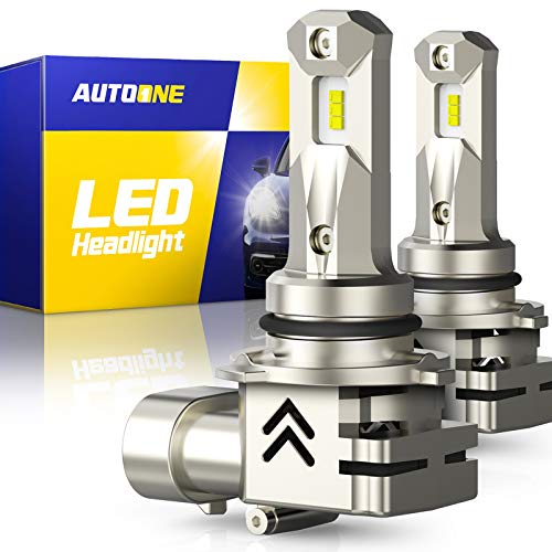 AUTOONE 9006 LED Headlight Bulbs HB4 LED Bulb, Same OEM Size, 12000LM CANBUS for Low Beam or fog lights, Pack of 2