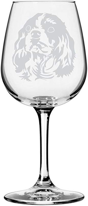 Cavalier King Charles Spaniel Dog Themed Etched All Purpose 12 75oz Libbey Wine Glass