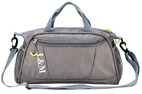 Pleasant Place Gym Bag Dry Wet Separated Swimming Kit Bag Waterproof Sports Duffels Bag...