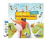Buchspielbox Sing mal (livre sonore) : première chansons pour enfants (livre d'images en carton + autocollant pour enfants, à partir de 2 ans.