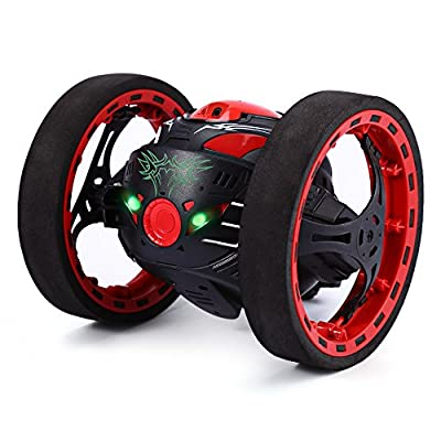GBlife 2.4Ghz Wireless Remote Control Jumping RC Toy Cars Bounce Car No WiFi for Kids (Black) from GBlife