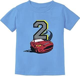 TeeStars - 2nd Birthday Race Car Party 2 Year Old Boy Toddler Kids T-Shirt