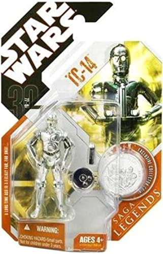 Más asequible Hasbro Star Wars Wars Wars TC de 14Droid con Moneda 30th Anniversary Saga Legends Collection  ofreciendo 100%