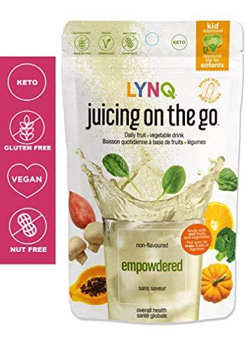 LYNQ - Daily Fruit & Vegetable Drink Powder - Non GMO - Gluten Free - Vegan (Empowdered - Non Flavored)